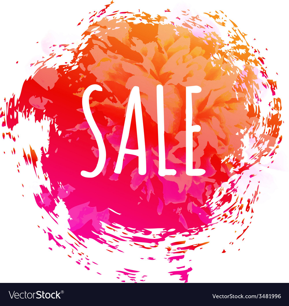 Color sale poster vector | Price: 1 Credit (USD $1)