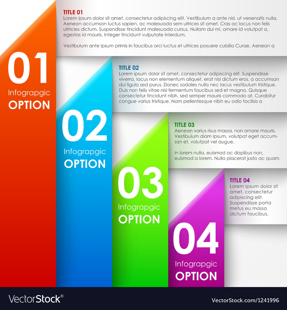 Paper infographics options banner vector | Price: 1 Credit (USD $1)