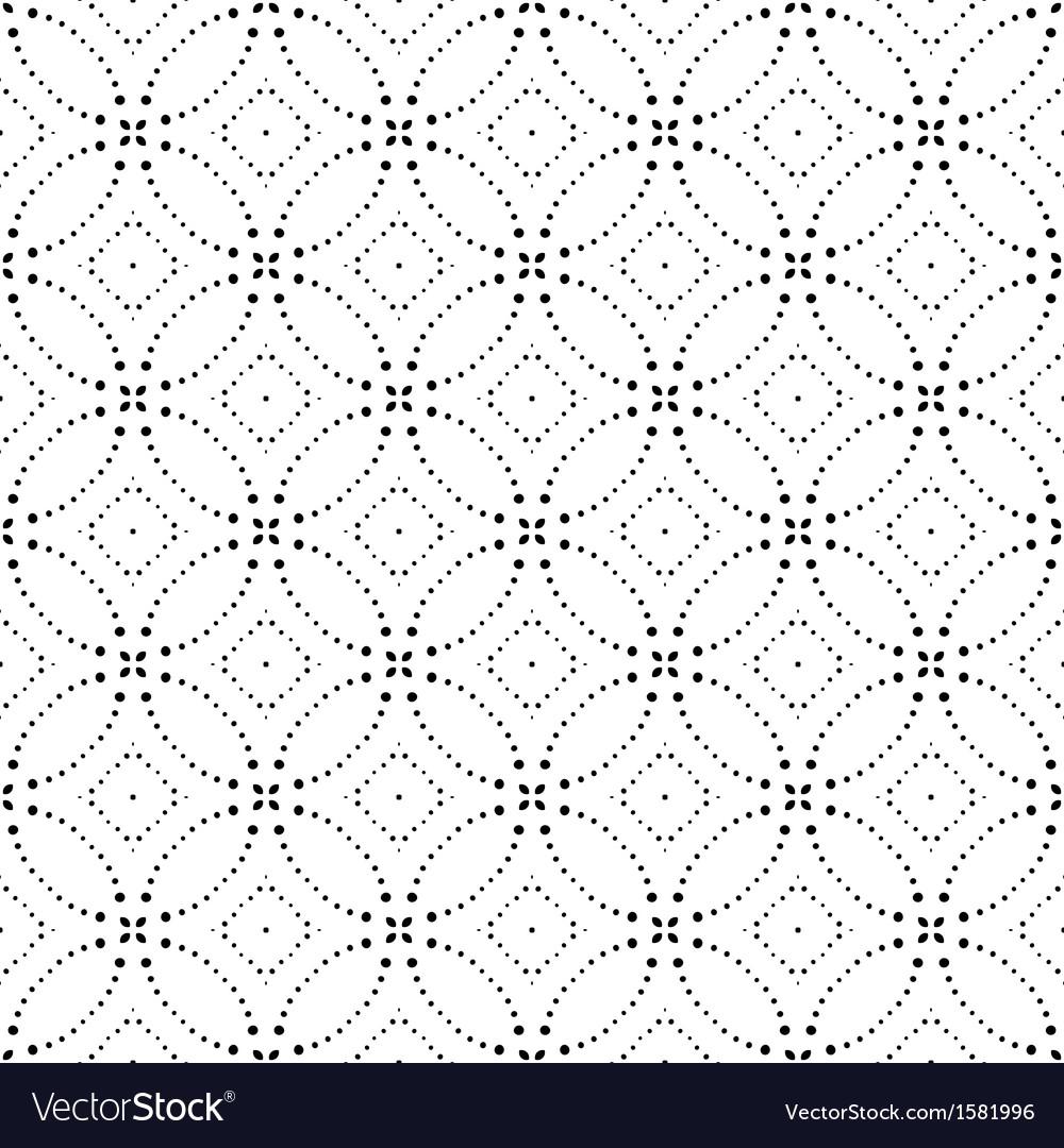 Seamless monochrome geometric pattern vector   Price: 1 Credit (USD $1)