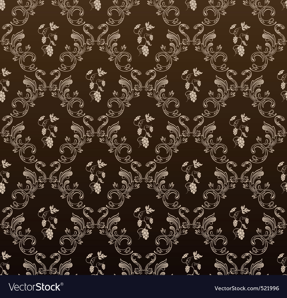 Seamless wallpaper background grapes black vintage vector | Price: 1 Credit (USD $1)