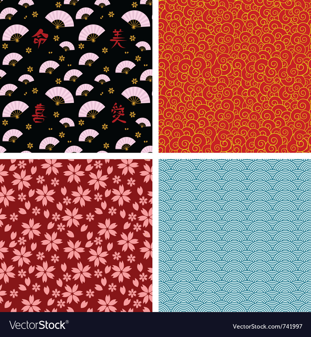 Asian patterns vector