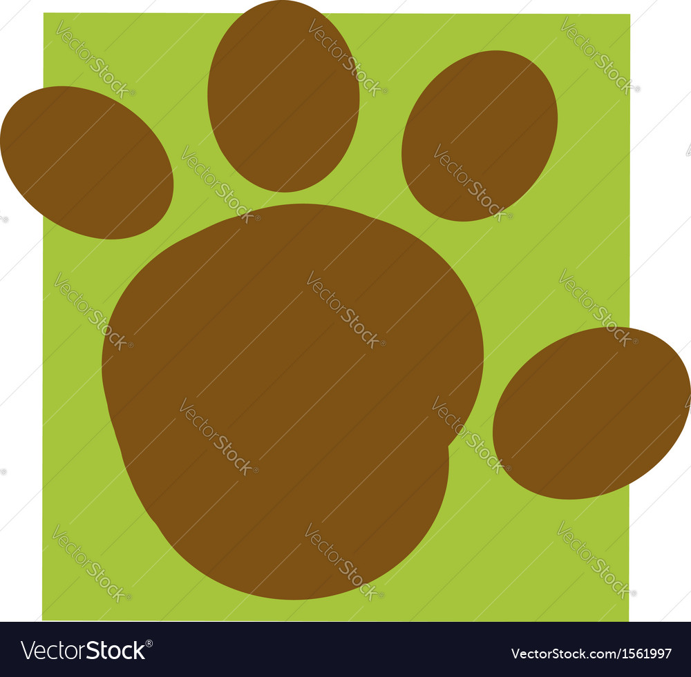 Cartoon paw vector | Price: 1 Credit (USD $1)
