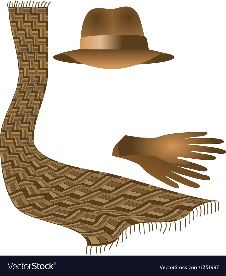 Hat scarf gloves vector | Price: 1 Credit (USD $1)