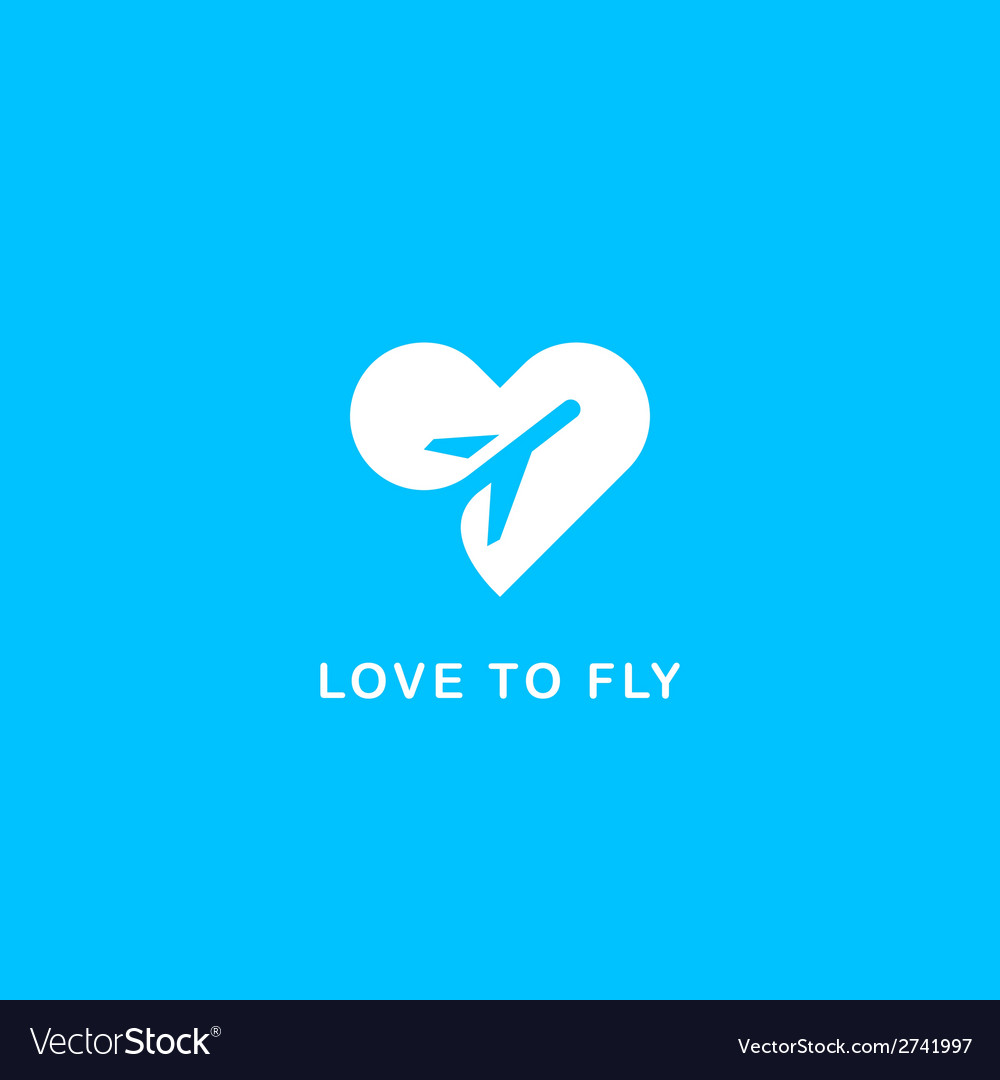 Love to fly symbol vector | Price: 1 Credit (USD $1)
