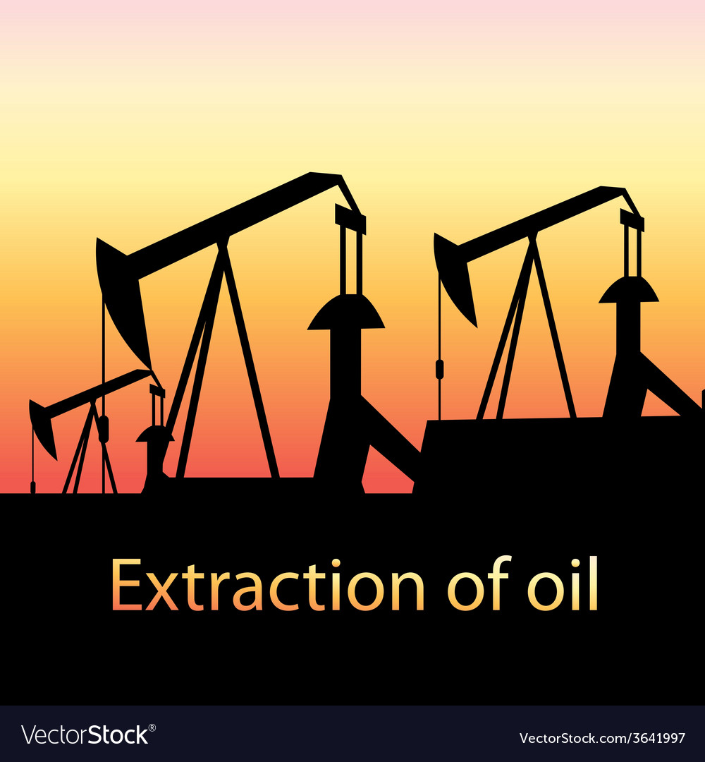 Oil production vector | Price: 1 Credit (USD $1)