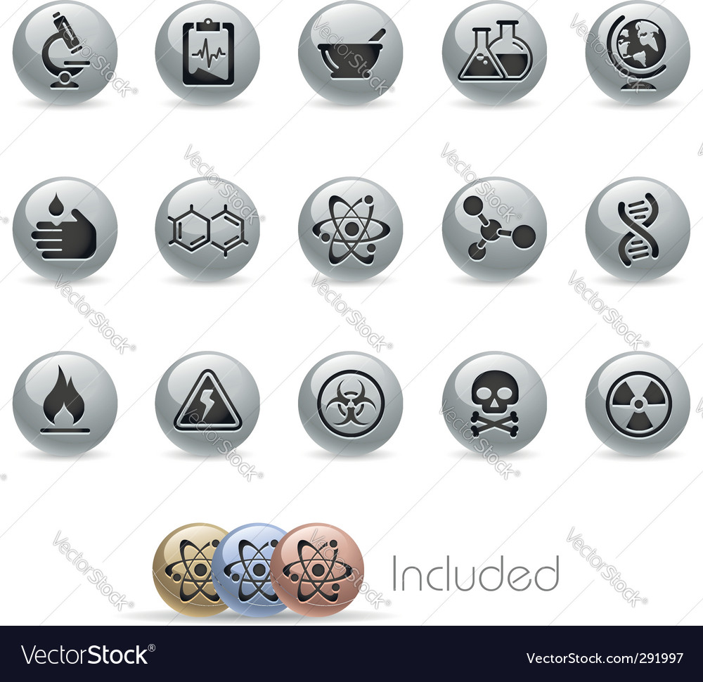 Science icons vector | Price: 3 Credit (USD $3)
