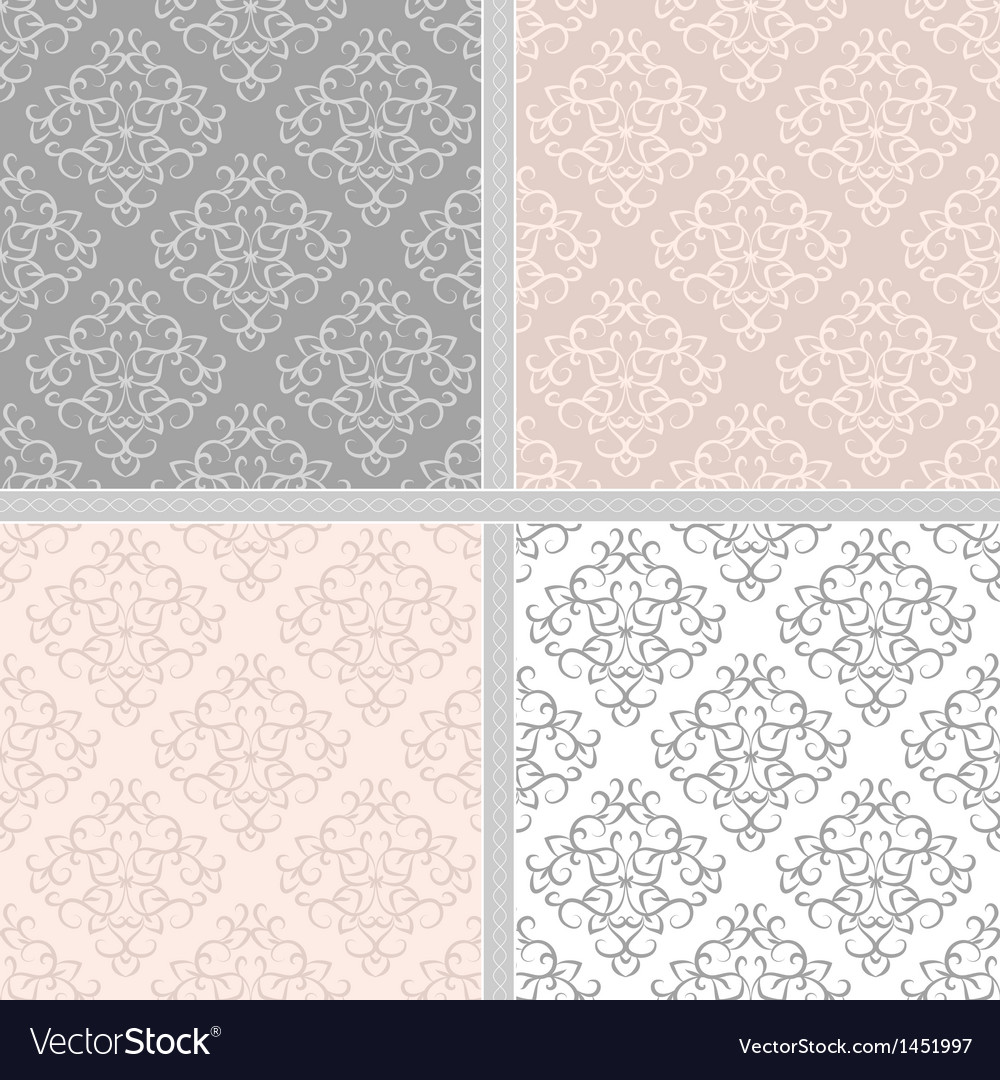 Seamless abstract damask pattern vector | Price: 1 Credit (USD $1)