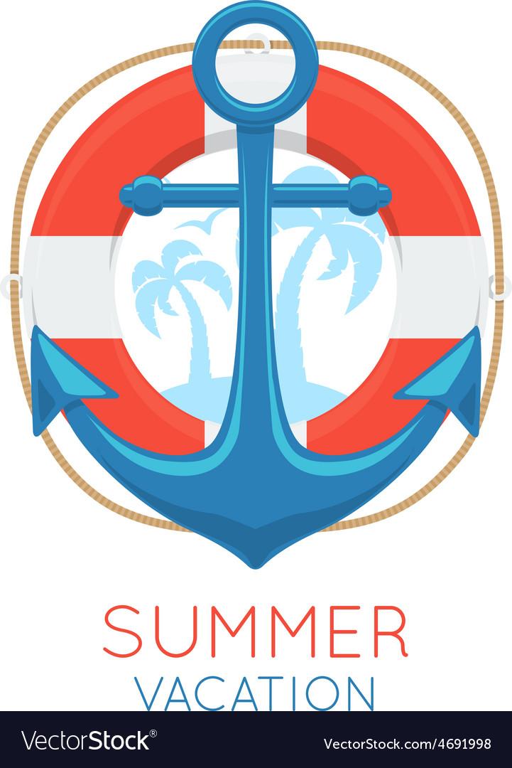 Anchor sea symbol vector | Price: 1 Credit (USD $1)
