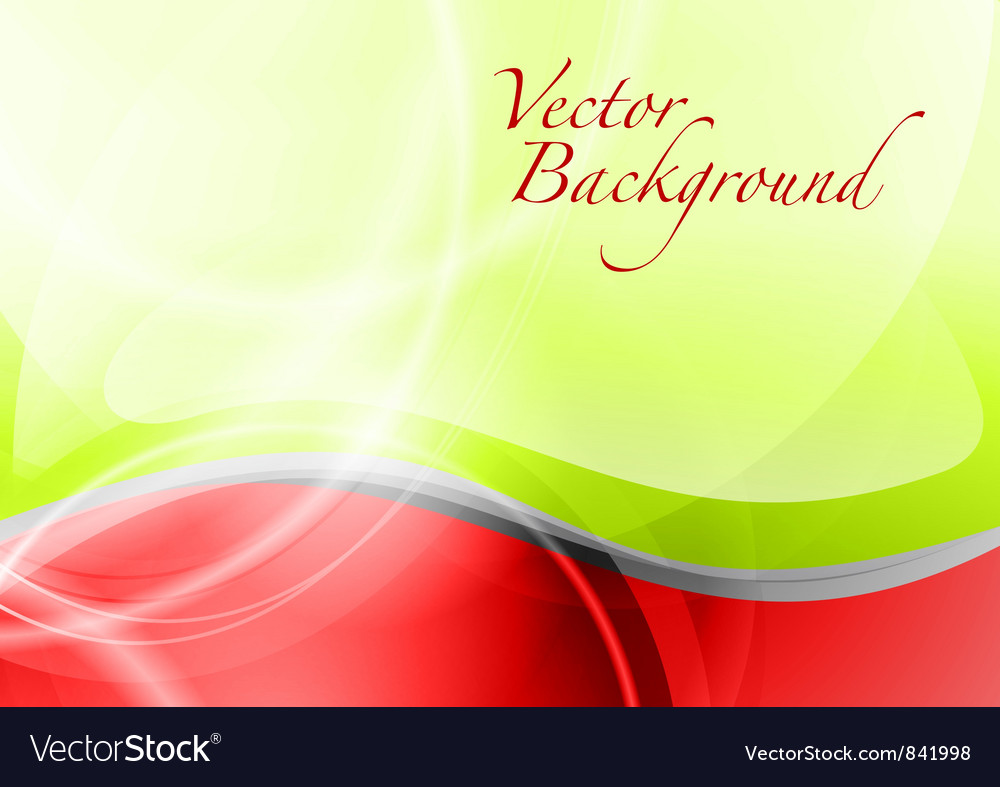 Background abstract red and green wave text vector | Price: 1 Credit (USD $1)