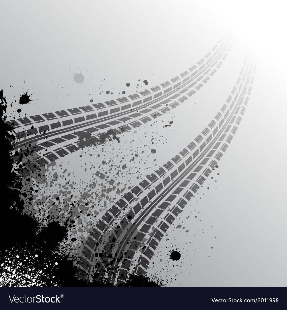 Background with tire track vector | Price: 1 Credit (USD $1)