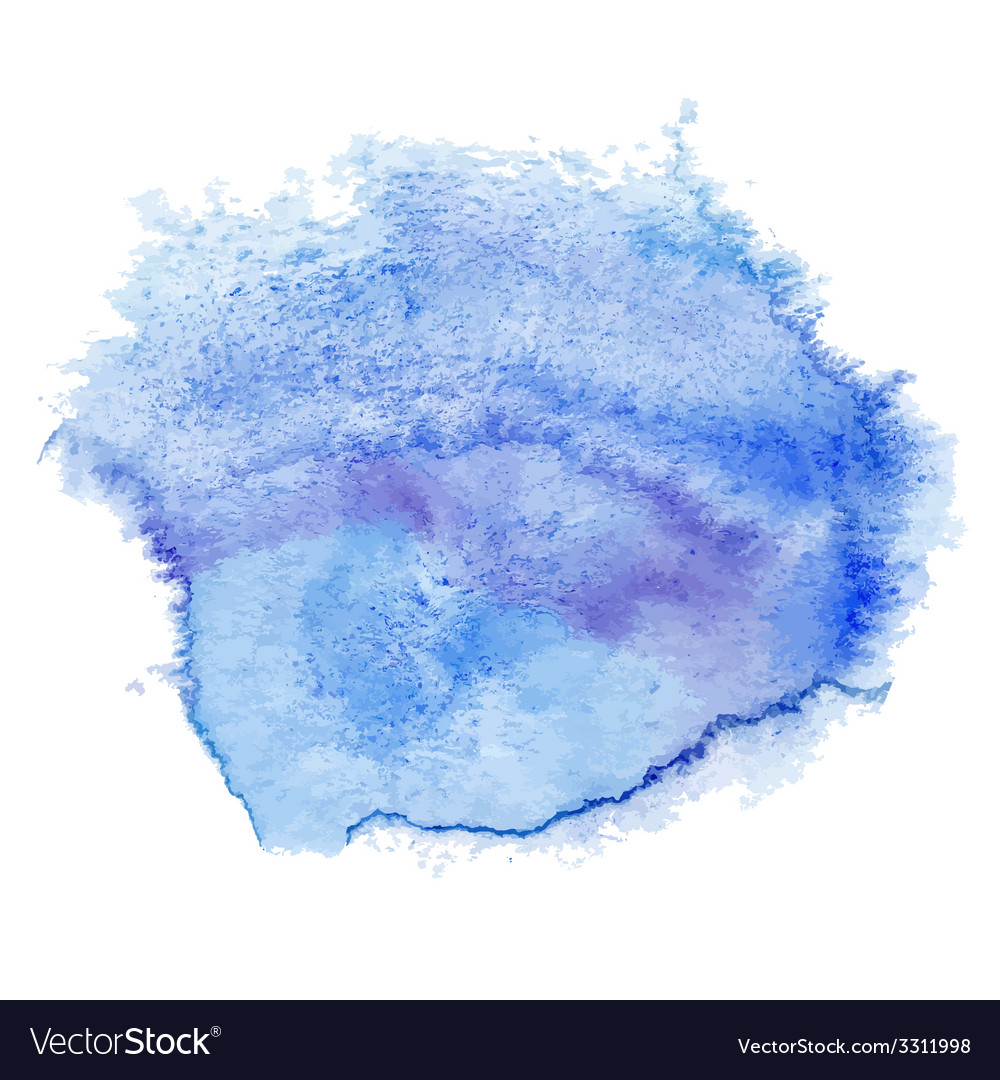 Blue watercolor spot vector | Price: 1 Credit (USD $1)