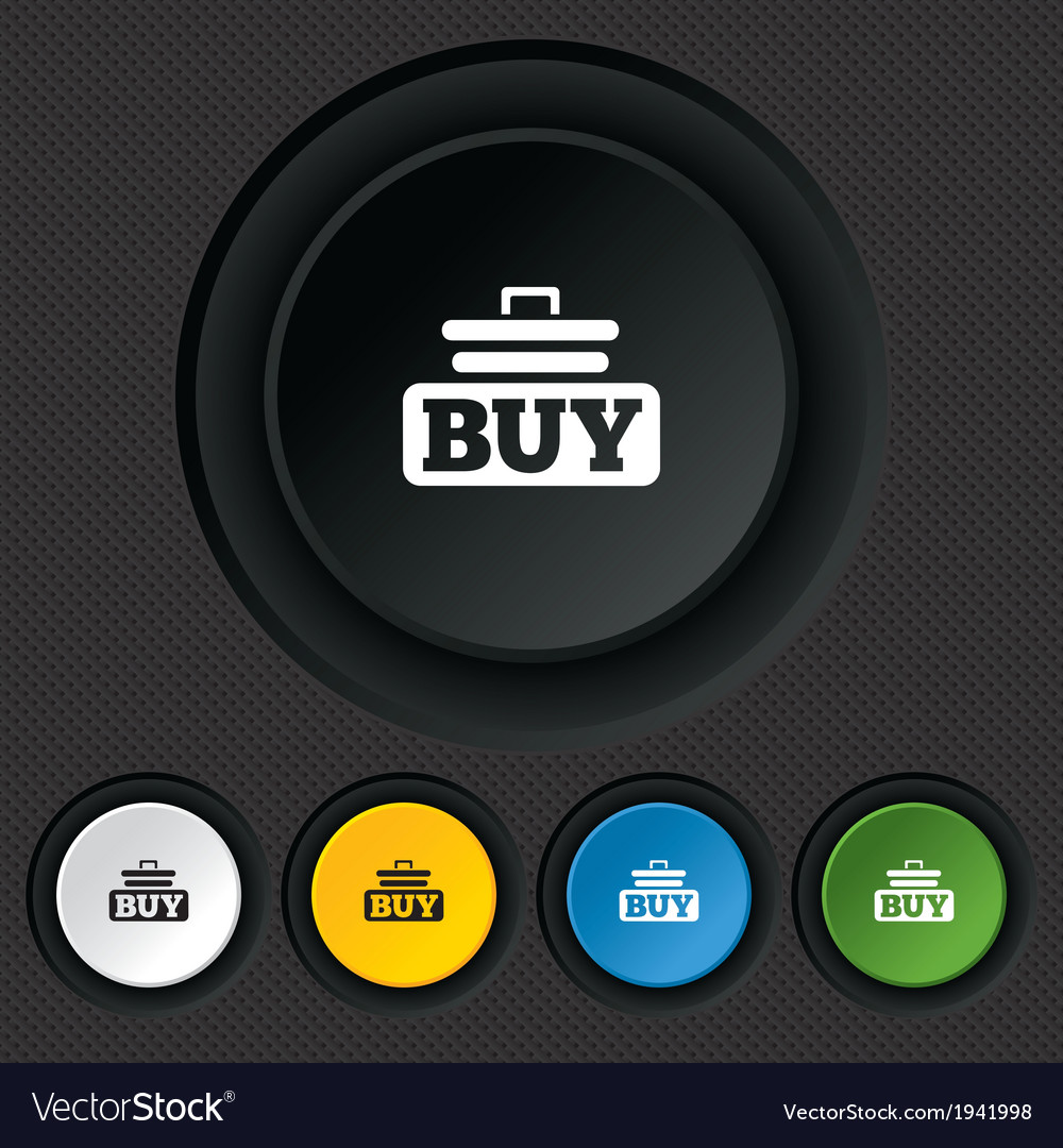 Buy sign icon online buying cart button vector   Price: 1 Credit (USD $1)