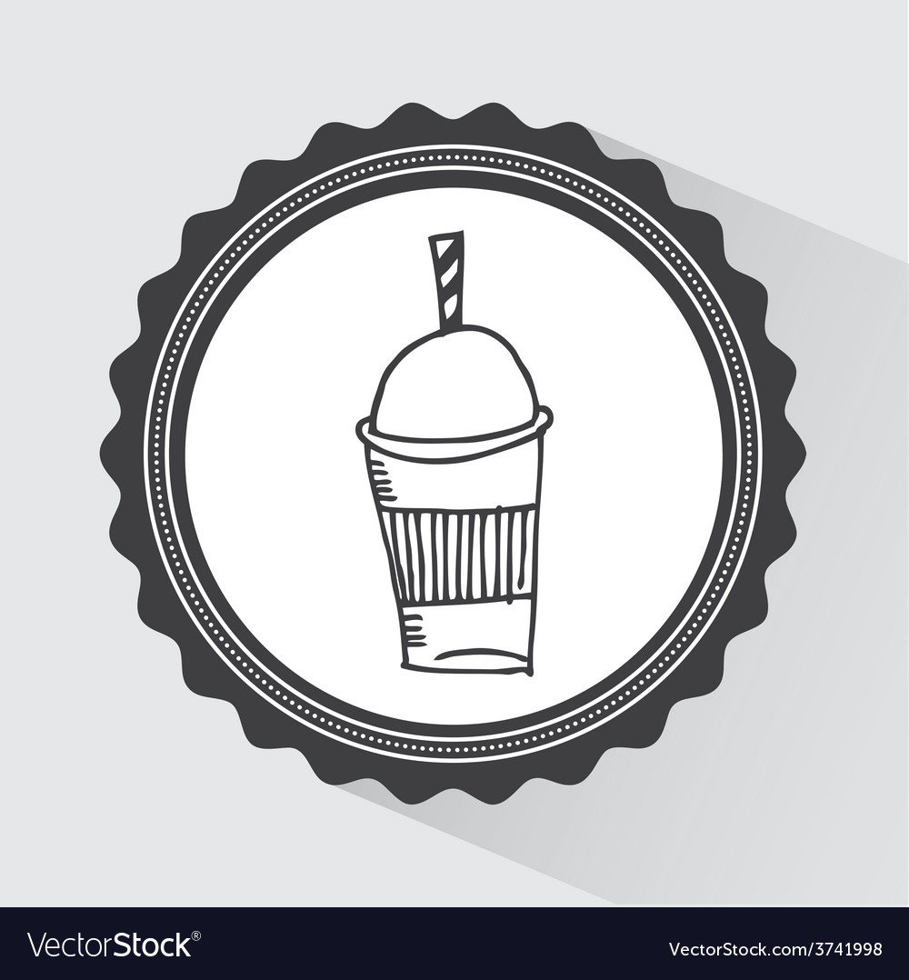 Coffee glass vector | Price: 1 Credit (USD $1)
