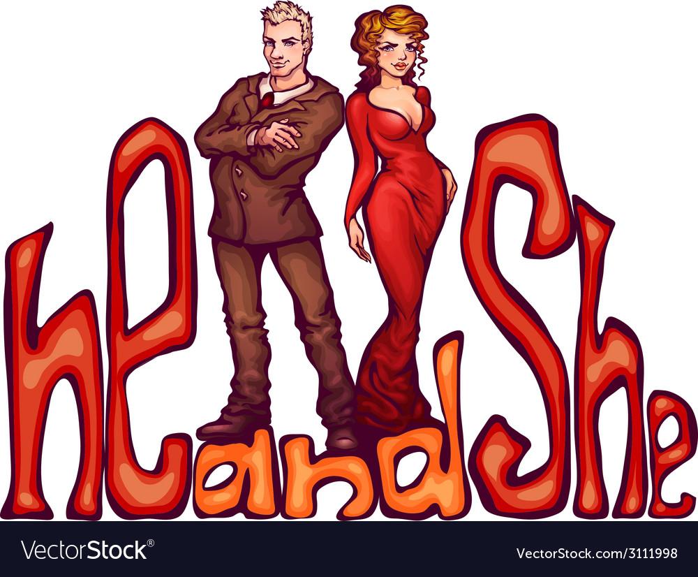 Elegant man and women vector | Price: 1 Credit (USD $1)