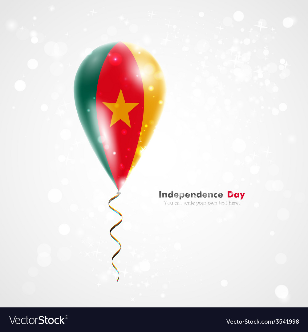 Flag of cameroon on balloon vector | Price: 1 Credit (USD $1)