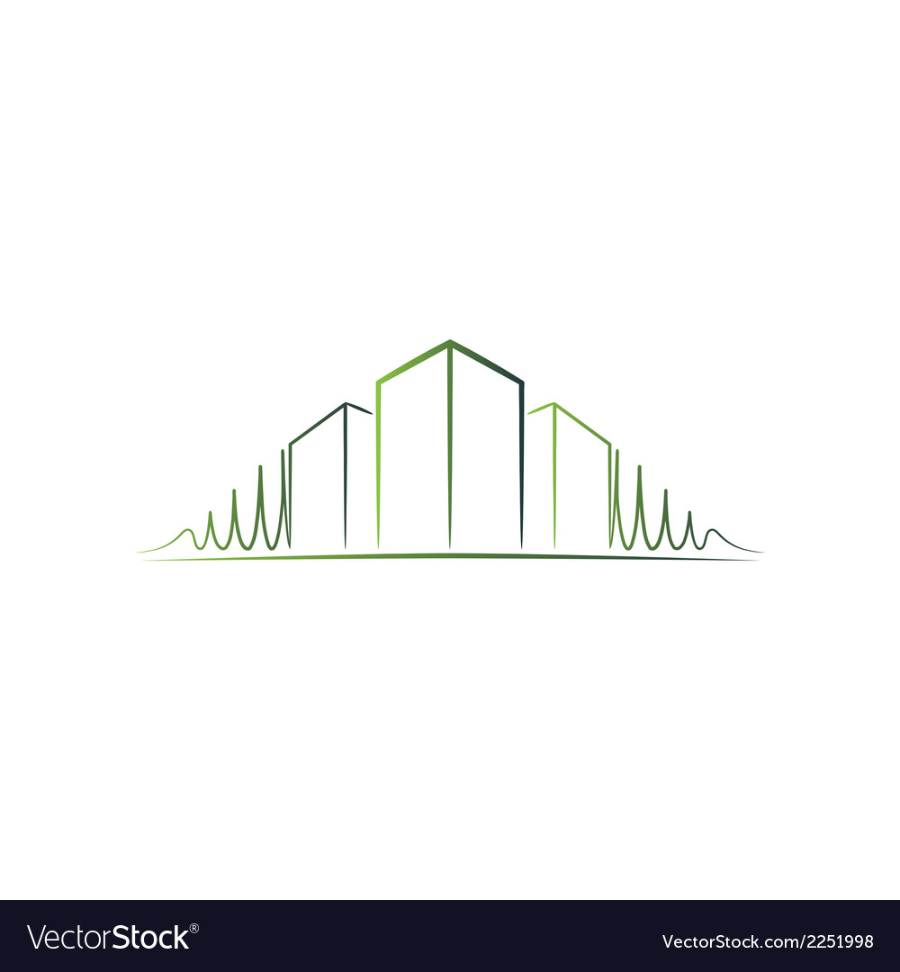 Green architect logo vector | Price: 1 Credit (USD $1)