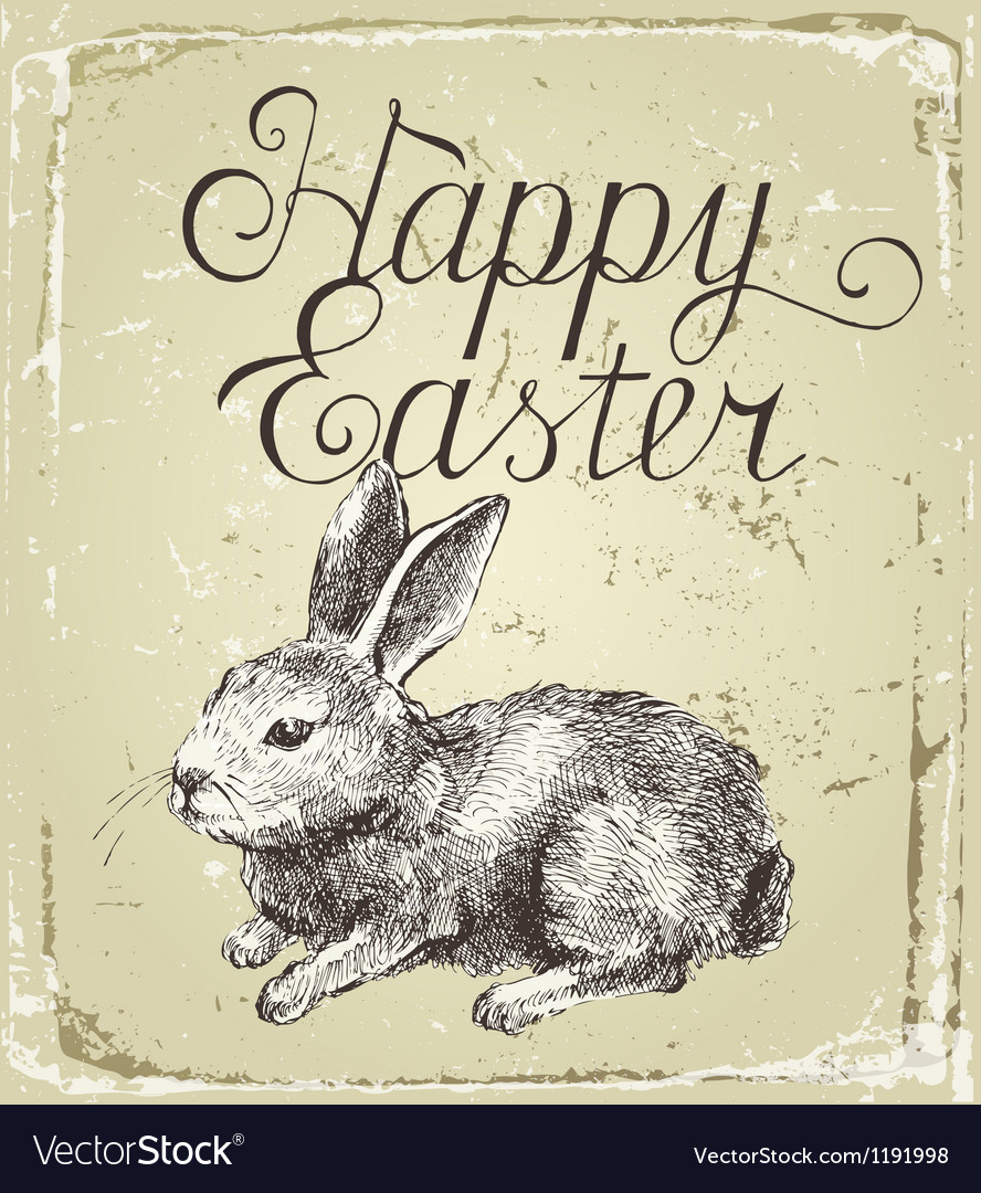 Hand drawn easter card vector | Price: 3 Credit (USD $3)