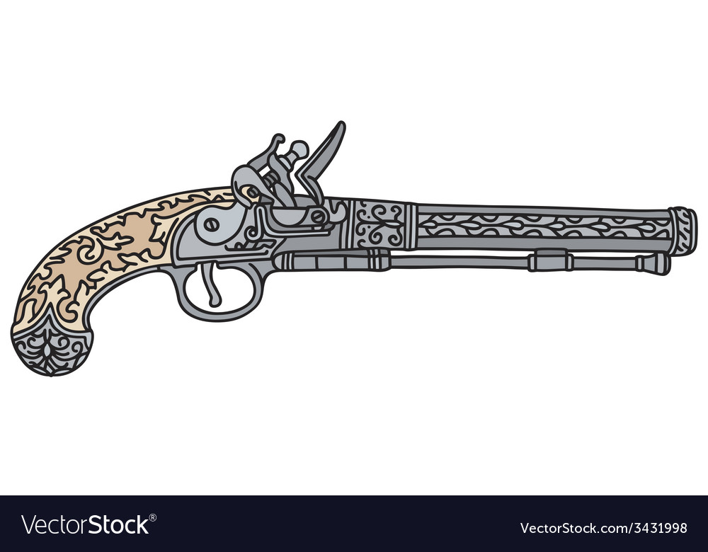 Historical pistol vector | Price: 1 Credit (USD $1)