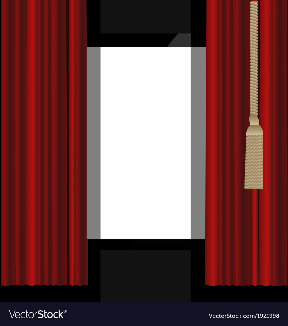Red curtains to the theatre stage vector | Price: 1 Credit (USD $1)