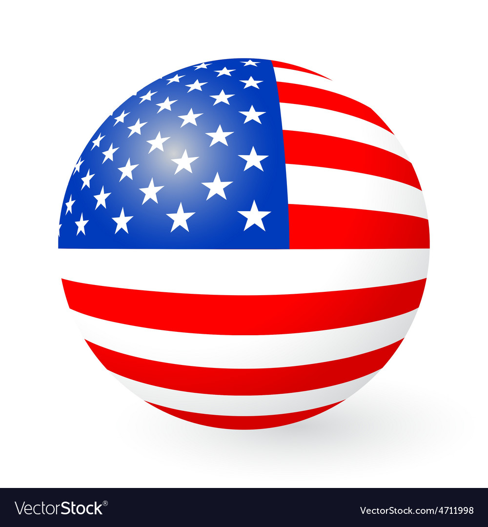 Stars and stripes button and sticker vector | Price: 1 Credit (USD $1)