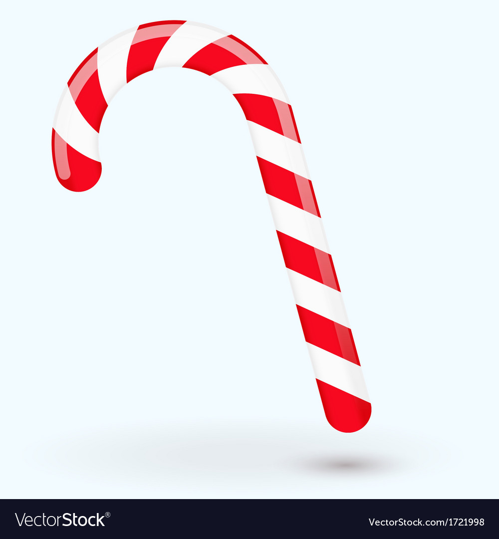 Traditional christmas candy isolated on white vector | Price: 1 Credit (USD $1)