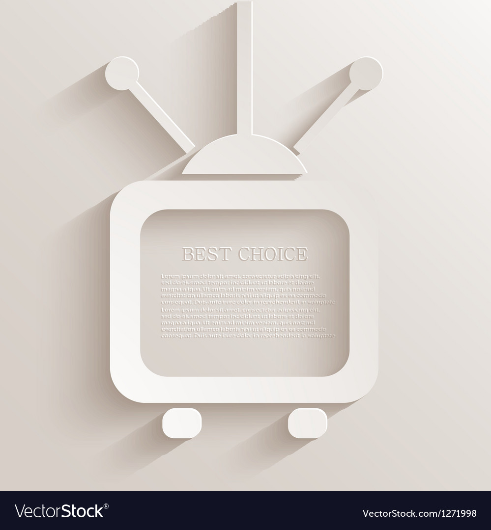 Tv icon background vector | Price: 1 Credit (USD $1)