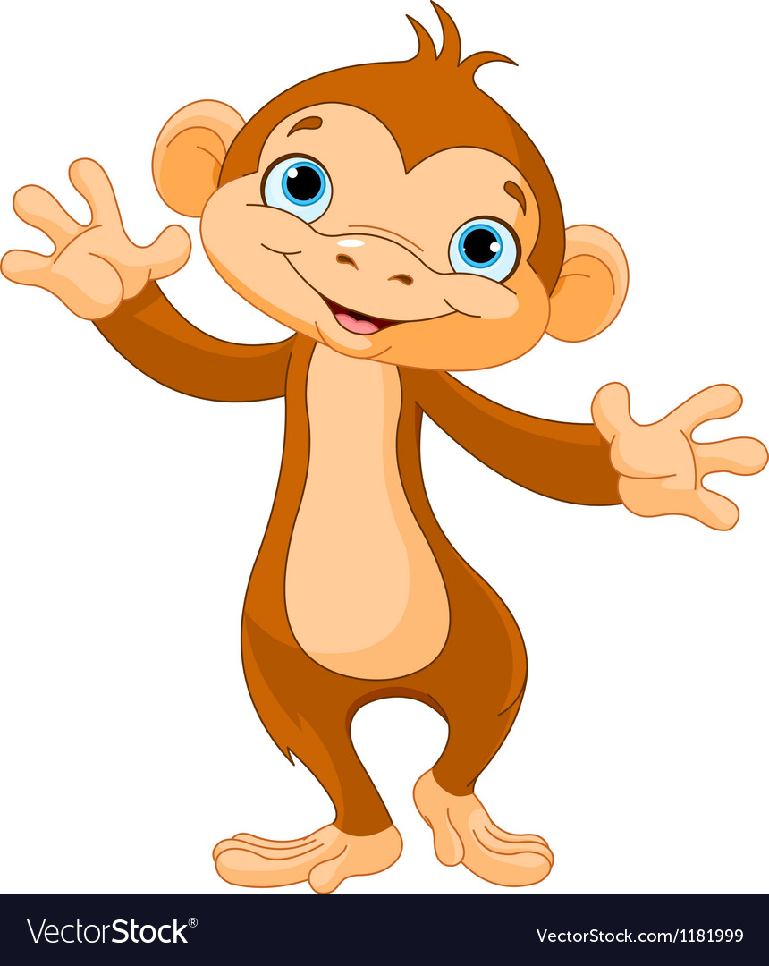 Baby monkey vector | Price: 3 Credit (USD $3)