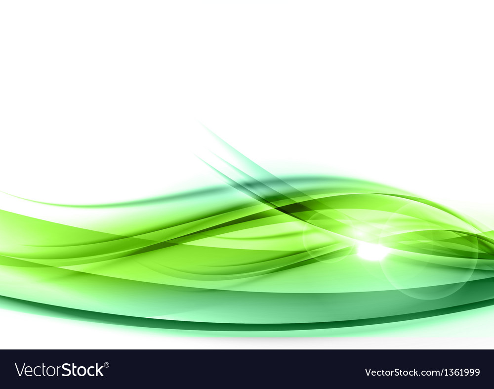 Background green wave vhite horizontal vector | Price: 1 Credit (USD $1)