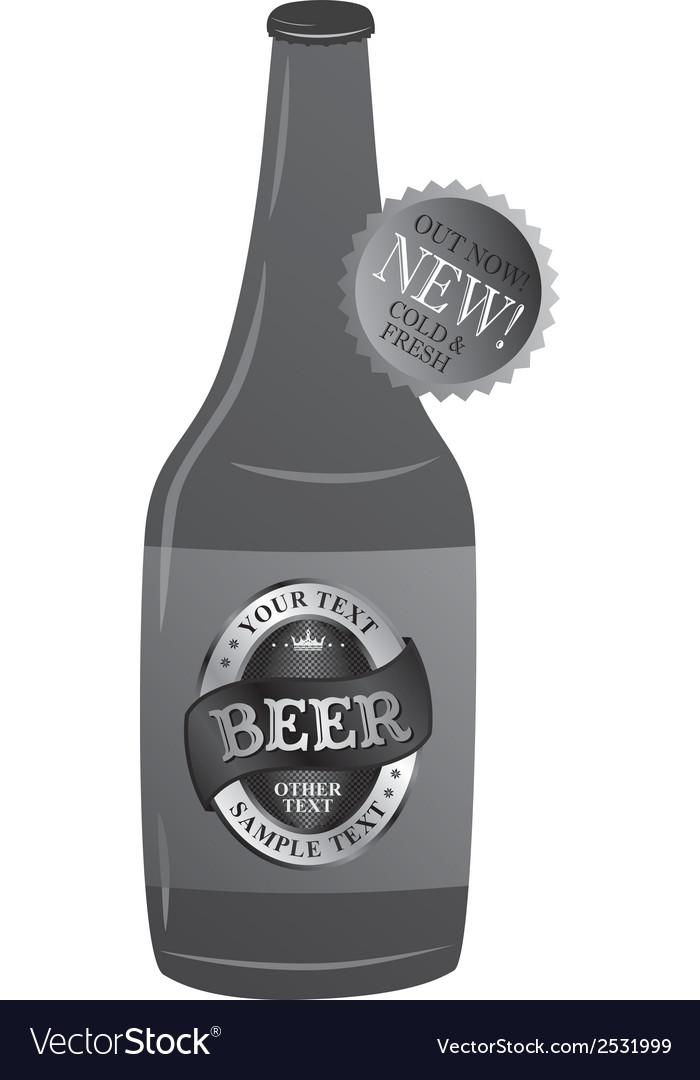 Beer bottle design vector | Price: 1 Credit (USD $1)