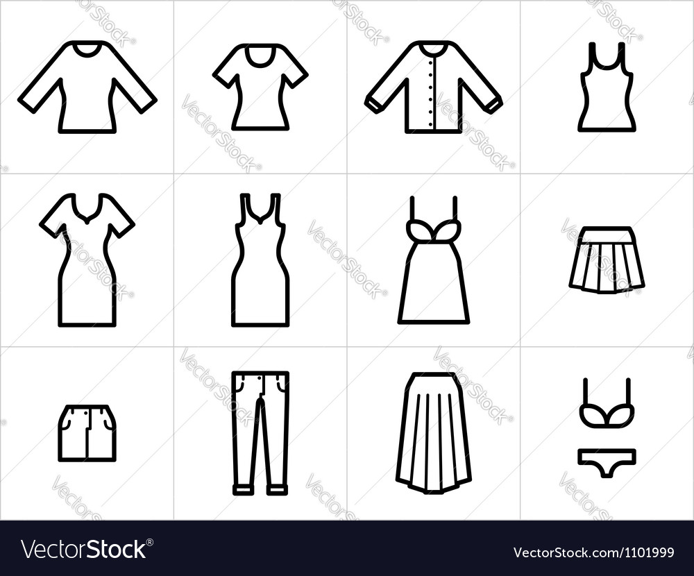 Clothing icons set 2 vector | Price: 1 Credit (USD $1)