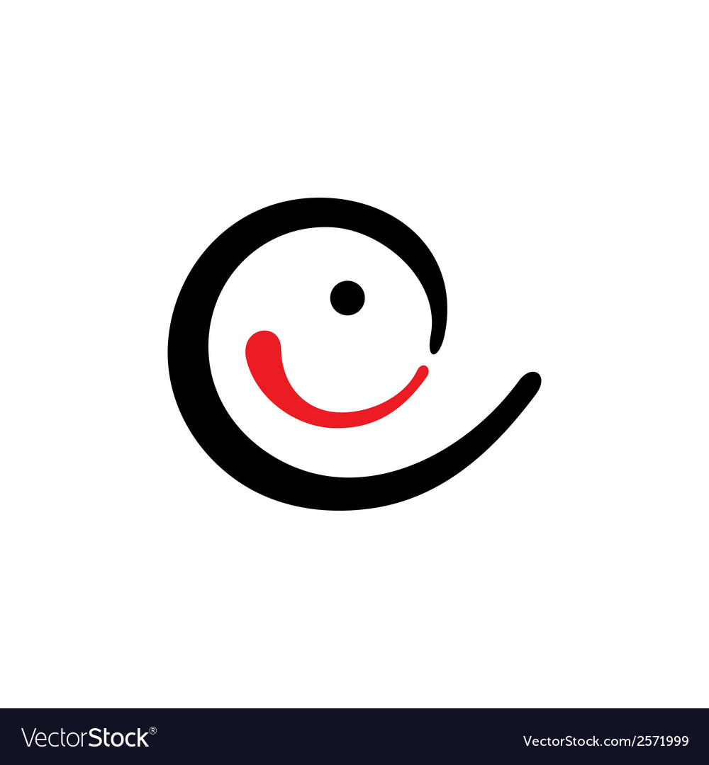 Curve smile sign vector | Price: 1 Credit (USD $1)