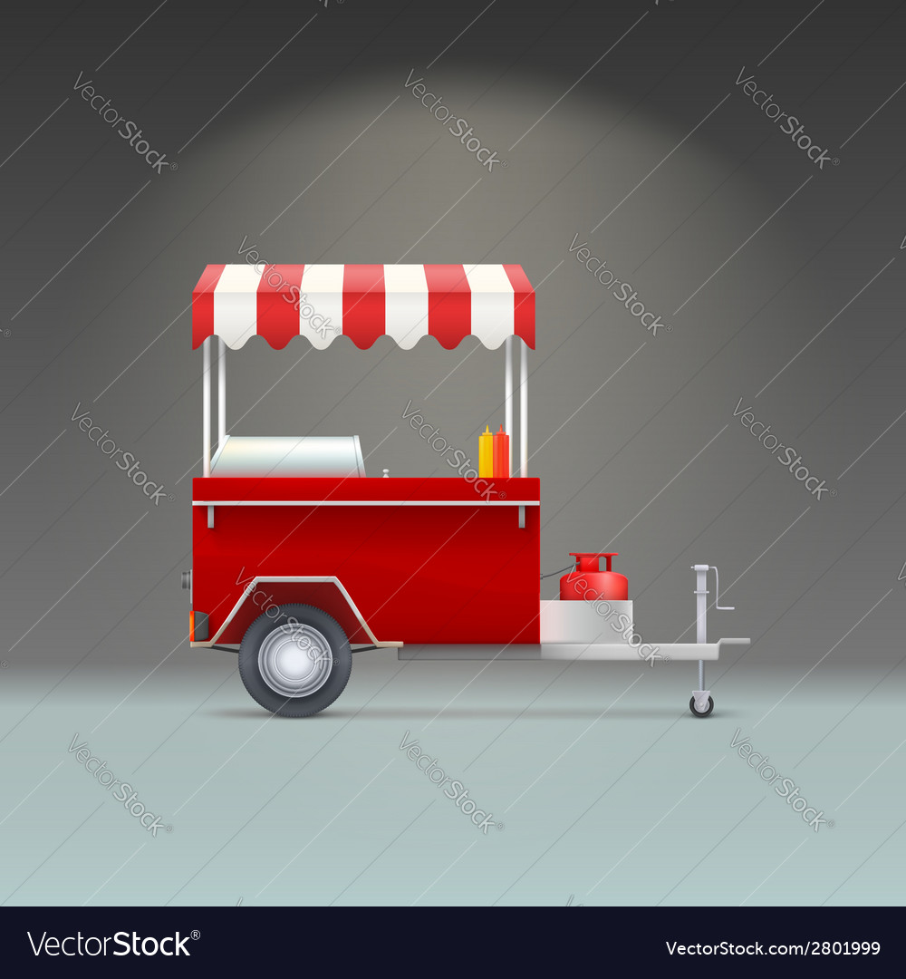 Hot dog store vector | Price: 1 Credit (USD $1)