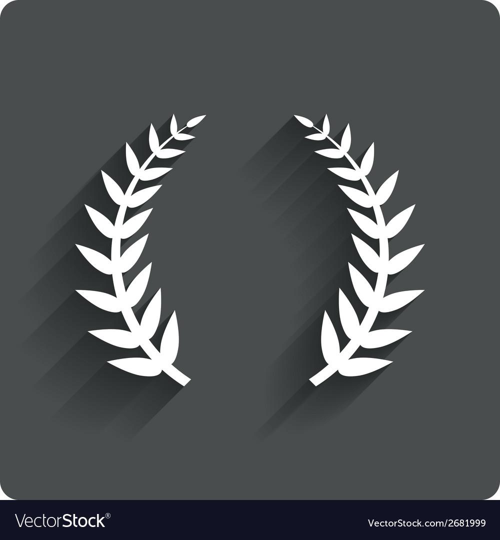 Laurel wreath sign icon triumph symbol vector | Price: 1 Credit (USD $1)