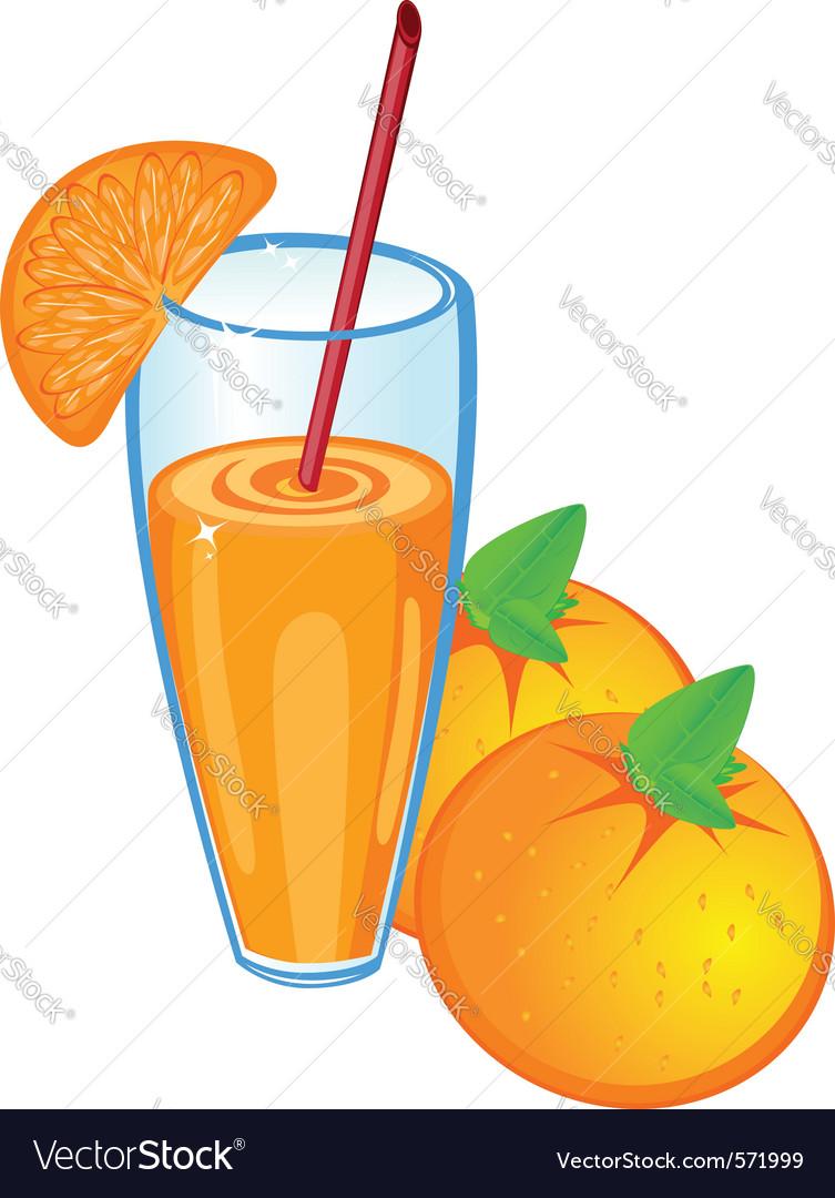 Orange fruit juice vector | Price: 1 Credit (USD $1)