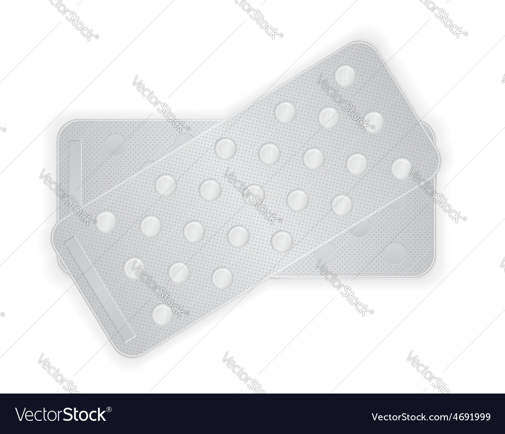 Pill in package 12 vector | Price: 1 Credit (USD $1)