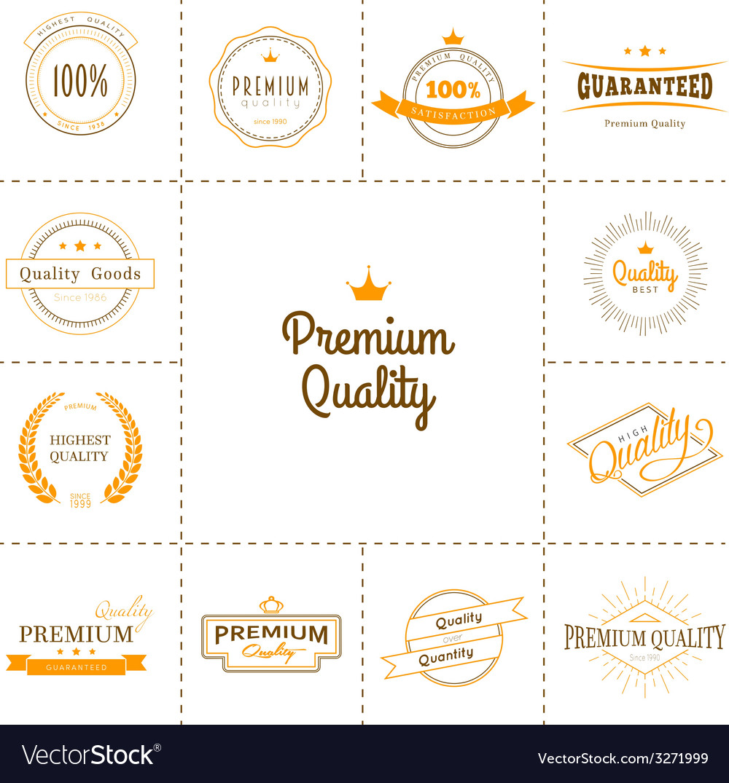 Premium quality labels set vector | Price: 1 Credit (USD $1)