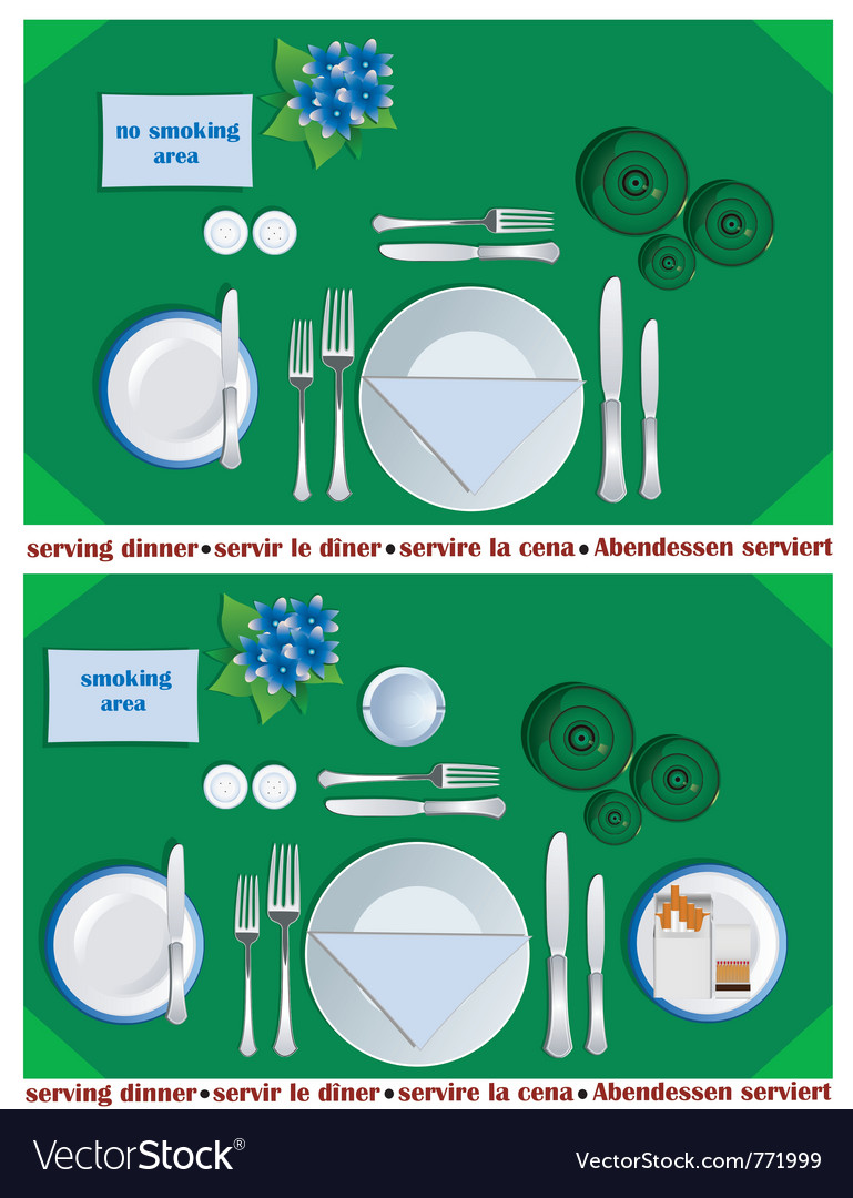 Serving dinner vector | Price: 1 Credit (USD $1)