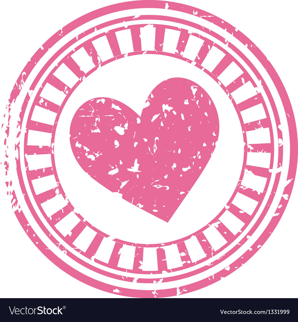 Stamp with a heart vector | Price: 1 Credit (USD $1)