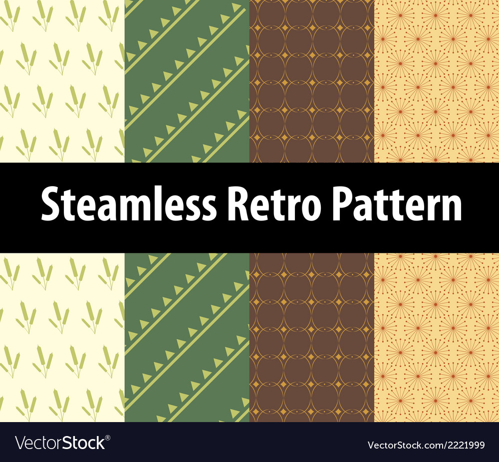 Steamless retro pattern vector | Price: 1 Credit (USD $1)