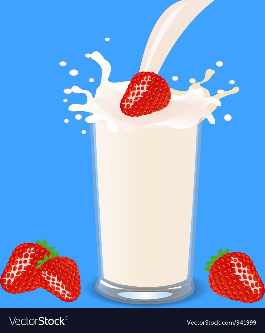 Strawberry milkshake vector | Price: 1 Credit (USD $1)