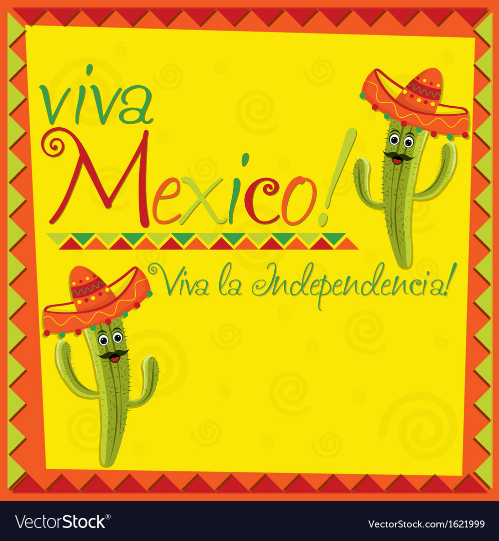 Viva mexico card design vector | Price: 1 Credit (USD $1)