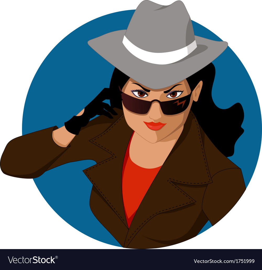 Woman of mystery vector | Price: 1 Credit (USD $1)