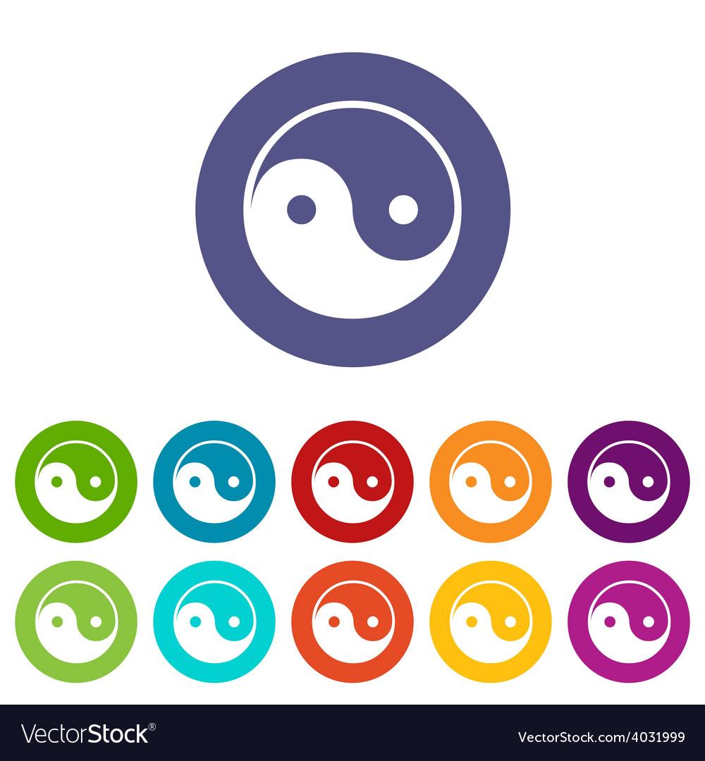 Yin yang flat icon vector | Price: 1 Credit (USD $1)