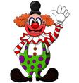 Cute clown cartoon vector