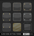 Set of colorful app icon frames templates buttons vector