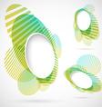 Bright green blue summer design elements vector