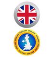 Button as a symbol of england vector