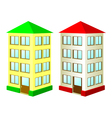 Two high houses vector