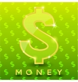 Green dollar sign on pattern background vector