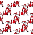 Seamless pattern with santa claus vector